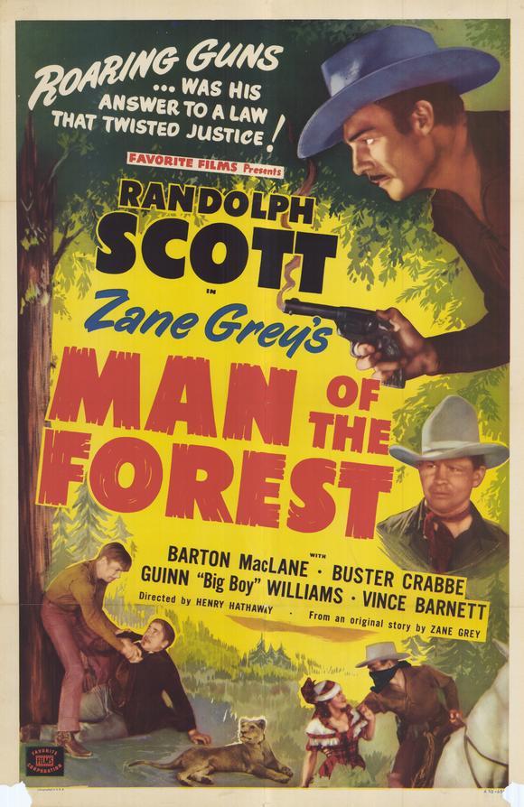 Les hommes de la forêt affiche
