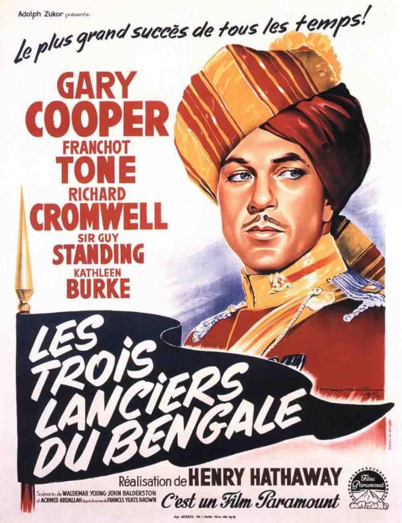 Les trois lanciers du bengale affiche